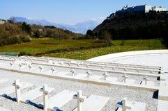 Cementerio polaco de WWII - Monte Cassino - Italia Foto de archivo libre de regalías