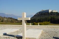 Cementerio polaco de WWII - Monte Cassino - Italia Fotografía de archivo