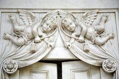 Cementerio principal Mirogoj, detalles, 17 de Zagreb Fotos de archivo