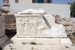 Cementerio romano de Fiskardo Fotos de archivo