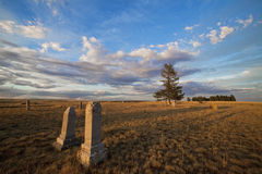 Cementerio rural Fotografía de archivo libre de regalías