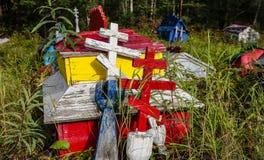 cementerio Ruso-ortodoxo en Eklutna Imagen de archivo libre de regalías