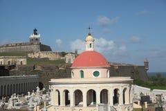 Cementerio Santa Maria de Pazzis, San Juan images libres de droits