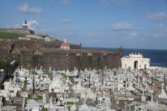 Cementerio Santa Maria de Pazzis, San Juan Images stock