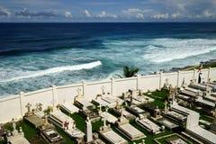 Cementerio Santa Maria Magdalena de Pazzi with sea on the background, Puerto Rico Stock Photo