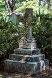 Cementerio Savannah Georgia de William Rogers Cemetery Statuary Statue Bonaventure foto de archivo libre de regalías