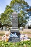 Cementerio titánico Lugar en la ciudad de Halifax en Canadá donde t imagen de archivo