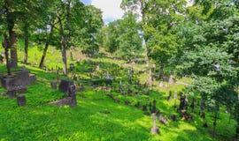 Cementerio viejo de Rasos en Vilna Imagenes de archivo