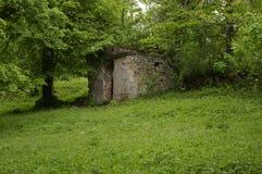Cementerio viejo del pueblo de Miedzianka polonia imagen de archivo libre de regalías