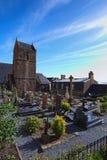 Cementerio viejo en la abadía de Mont Saint Michel Normandía, Francia, Europa Imagen de archivo libre de regalías