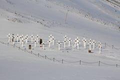 Cementerio viejo en Longyearbyen, Spitsbergen (Svalbard) noruega Fotos de archivo libres de regalías