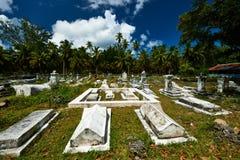 Cementerio viejo en Seychelles imágenes de archivo libres de regalías