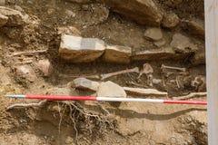 Cementerio viejo encontrado en la Reina del la de Puente, Navarra Espa?a fotografía de archivo