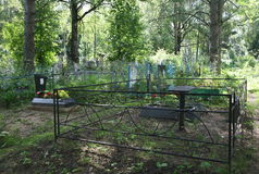 Cementerio viejo hermoso fotografía de archivo libre de regalías
