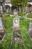 Cementerio y catacumbas de Petersfriedhof en el catholi del St Peters Abbey Imágenes de archivo libres de regalías