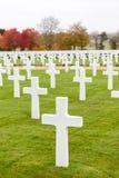 Cementerio y monumento americanos de Cambridge Foto de archivo libre de regalías