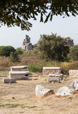 Cementery在Ephesus 图库摄影