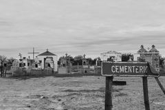 Cementery. Alone cementery in saltwork Stock Photos