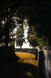 Cementery in Blunsdon stock afbeelding