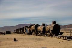 Cementery del tren imagenes de archivo