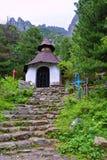 Cementery i den Strbske Pleso regionen på höga Tatras, Slovakien Royaltyfria Foton