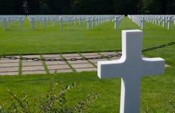 Cementery i Luxembourg Royaltyfri Bild