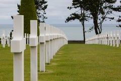 Cementery Normandy da guerra Fotografia de Stock Royalty Free
