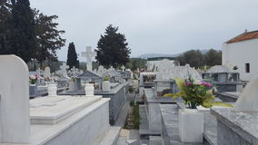 Cementery. Picture of a cementery in Crete Stock Images