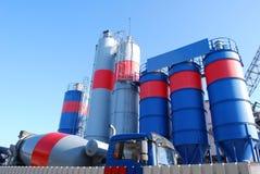 cementfabriceringväxt Royaltyfri Bild