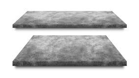 Cementgolv som isoleras på vit bakgrund Konkret hylla för produktskärm Snabb bana arkivfoton