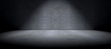 Cementgolvbakgrund och fläckljus Royaltyfri Bild