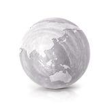Cementi illustrazione della mappa di mondo dell'Australia & dell'Asia 3D Fotografia Stock Libera da Diritti