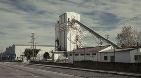 Cementi la fabbrica Fotografia Stock Libera da Diritti