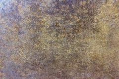 Cementi la struttura di superficie del grano in marrone ed oro Fotografie Stock Libere da Diritti