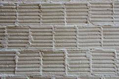 Cementmodell på en vägg Arkivbilder