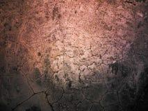 Cemento agrietado afectado por temblores del terremoto Imagen de archivo libre de regalías