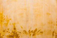 Cemento amarillo viejo abstracto del color Imagen de archivo