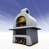 Cemento del barbecue Immagine Stock