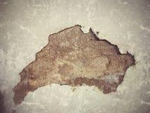 Cemento della crepa Immagini Stock