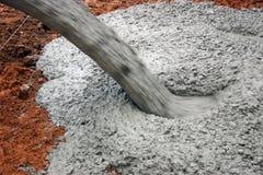 Cemento di versamento Immagine Stock