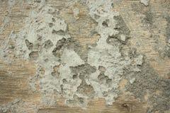 Cemento en la madera Foto de archivo libre de regalías