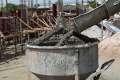 Cemento per l'operaio edile Fotografia Stock Libera da Diritti