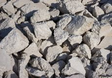 Cemento quebrado Imagen de archivo libre de regalías