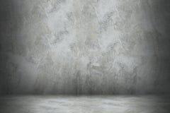 cementowa ściana i podłoga z cieniem dla projekta zdjęcia royalty free