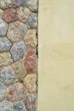 Cementowa ściana z kamień skał teksturą Zdjęcia Royalty Free