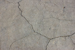 Cementowa ściana z pęknięciem Zdjęcie Stock