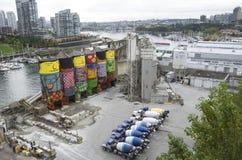 Cementowa budowy fabryki grafika Zdjęcia Stock