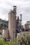 Cementowa fabryka Obrazy Stock