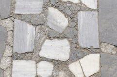 Cementowa Kamiennej ściany tekstura Fotografia Royalty Free