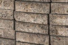 Cementowa piasek cegła Zdjęcie Stock
